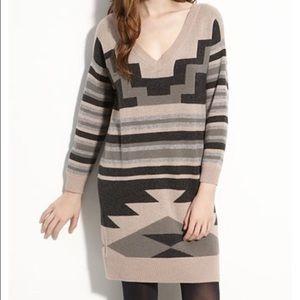 Joie Navajo Geometric Tai Cashmere Sweater Dress
